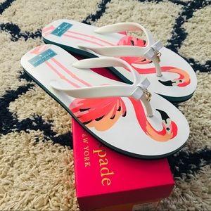 Kate Spade Fifi Flamingo Flip Flops Pink White